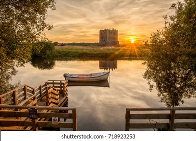Sunset at Threave Castle on and island in the River Dee, National Trust for Scotland, Historic Scotland