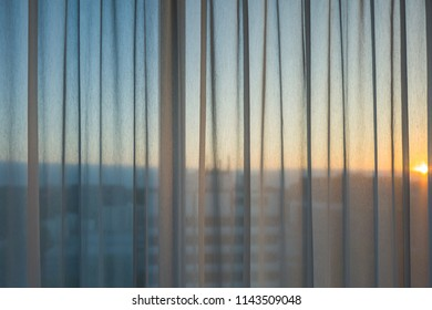 Sunset through window in Hamburg