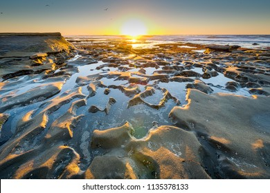 Sunset at the Tide Pools in La Jolla