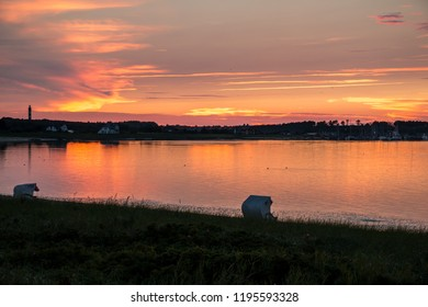 Sunset in the tideland on Amrum