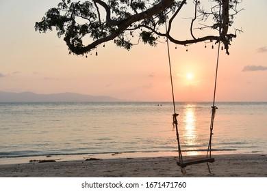 Sunset time at Koh Phangan, Thailand