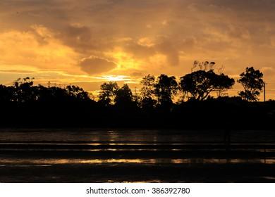 Sunset Tin Can Bay