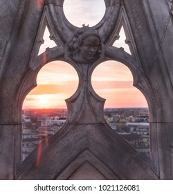 Sunset from the top of Duomo di Milano