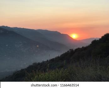 Sunset in Topanga Canyon, California