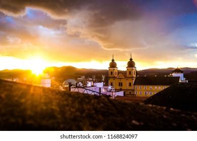 Sunset in Trencin, Slovakia