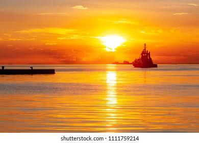 Sunset at Trieste, Friuli Venezia Giulia, Italy