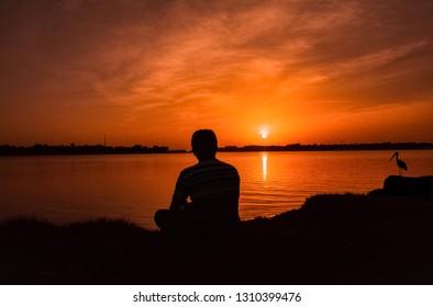 Sunset In UAE abudhabi beach
