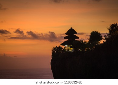 夕日 – ウルワツ寺 – インドネシア・バリ