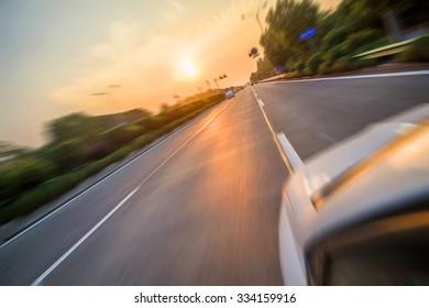 Sunset Urban Highway