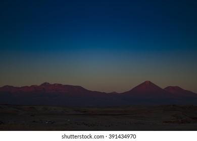 Sunset in Valle de la Luna (Moon Valley), Chile