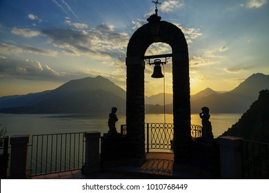 Sunset at Varenna. Italy