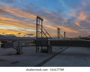 Sunset view at the airport