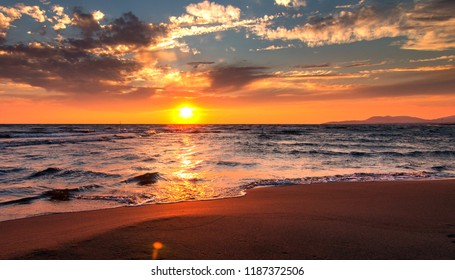 sunset view from beach