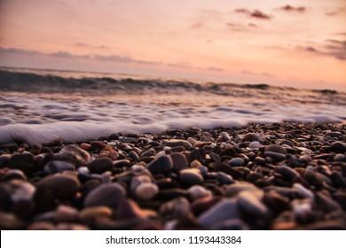 Sunset view at the beach from Alanya Antalya