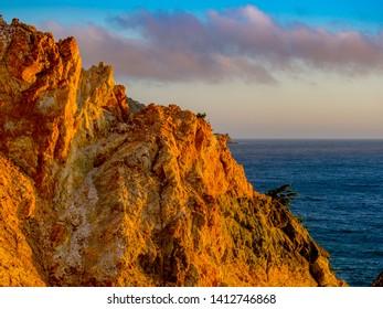 "The sunset view of the cape ""Koganezaki"" located in the west coast of Izu Peninsula, Shizuoka Prefecture, Japan, in a summer day."