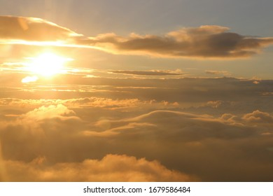 Sunset - view from the clouds