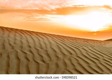 Sunset View in the Desert
