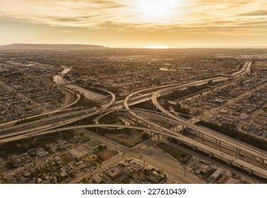 Los Angeles Freeways Images, Stock Photos & Vectors