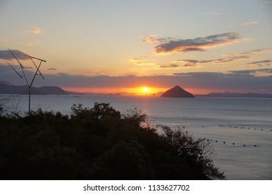 Sunset view (Kagawa, Japan)