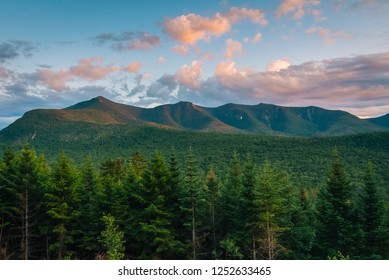 Sunset view from the Kancamagus Highway, in White Mountains National Forest, New Hampshire