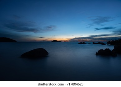 Sunset view of Koh Phangan Thailand