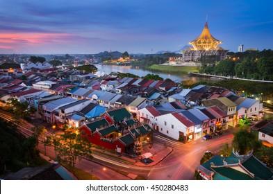 Sunset View At Kuching City Capital Of Sarawak - Shutterstock ID 450280483