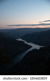 Sunset view from Miradouro de Ujo in Vale do Tua, Alijo, Vila Real, Portugal
