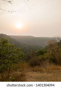 Sunset view from mountain top in Lonavala India