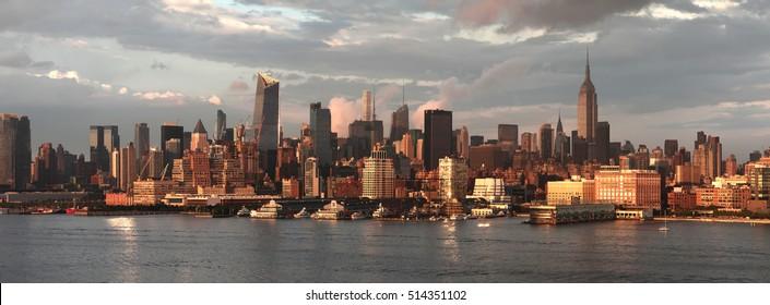 Sunset View of New York. USA.