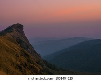 The sunset view on Monjong mountain