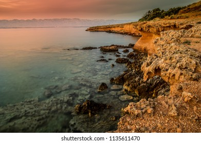 Sunset view on Vir island, Croatia
