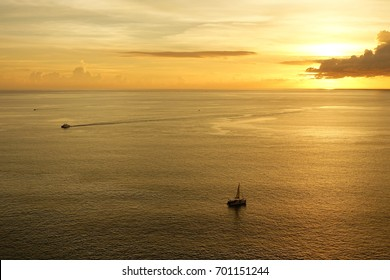 Sunset view at Promthep cape, Southern of Thailand.