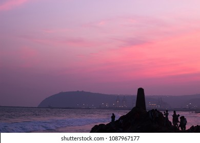 Sunset view at RK beach and dophin nose , Visakhapatnam, Andhra Pradesh, India
