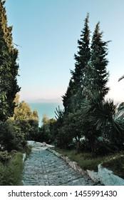 Sunset view of Sidi Bou Said, Africa, North Africa, Tunisia, Sidi Bou Said