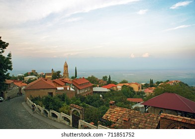 Sunset view of Sighnaghi in Georgia