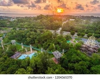 Sunset View at Taman Awam Miri, Sarawak.