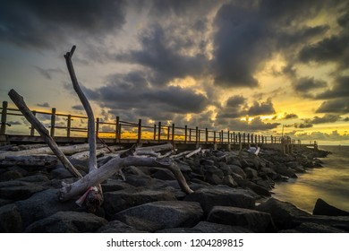 Sunset View at Tanjong Lobang Beach, Miri, Sarawak.
