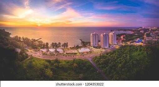 Sunset View at Tanjong Lobang Beach Miri, Sarawak.
