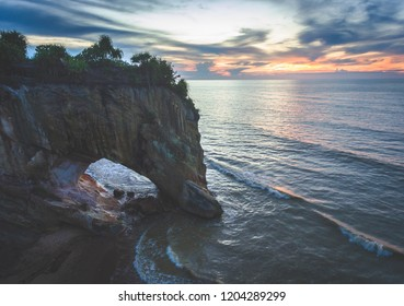 Sunset View at Tusan Beach, Miri, Sarawak.