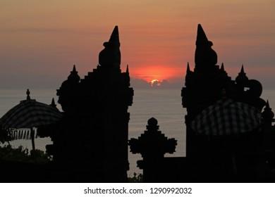 Sunset, view from Uluwatu, Bukit Peninsula, Bali, Indonesia