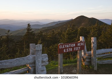 Sunset viewed from Mount Mitchell, North Carolina, near Asheville
