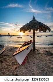 Sunset  Views around Curacao a small Caribbean island