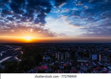 Sunset in Villavicencio (Colombia).