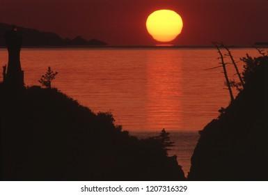 Sunset of Wakasa Bay