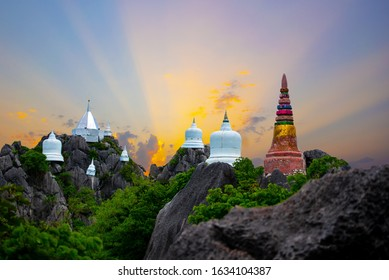The Sunset at Wat Chaloem Phra Kiat a public temple on the hill off Lampang Unseen Thailand