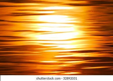 sunset in the water