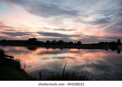 Sunset Water Reflection
