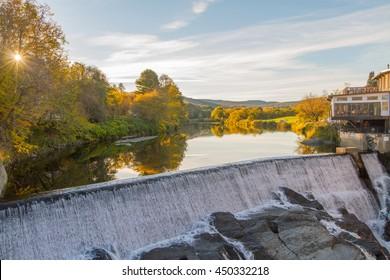 Sunset Waterfall in Quechee, Vermont