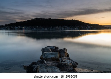 Sunset Waterscape from St Huberts Island on the Central Coast, NSW, Australia.