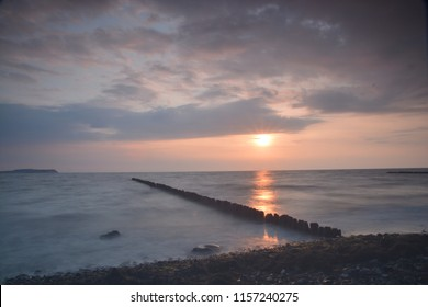 Sunset and Waves on Rügen